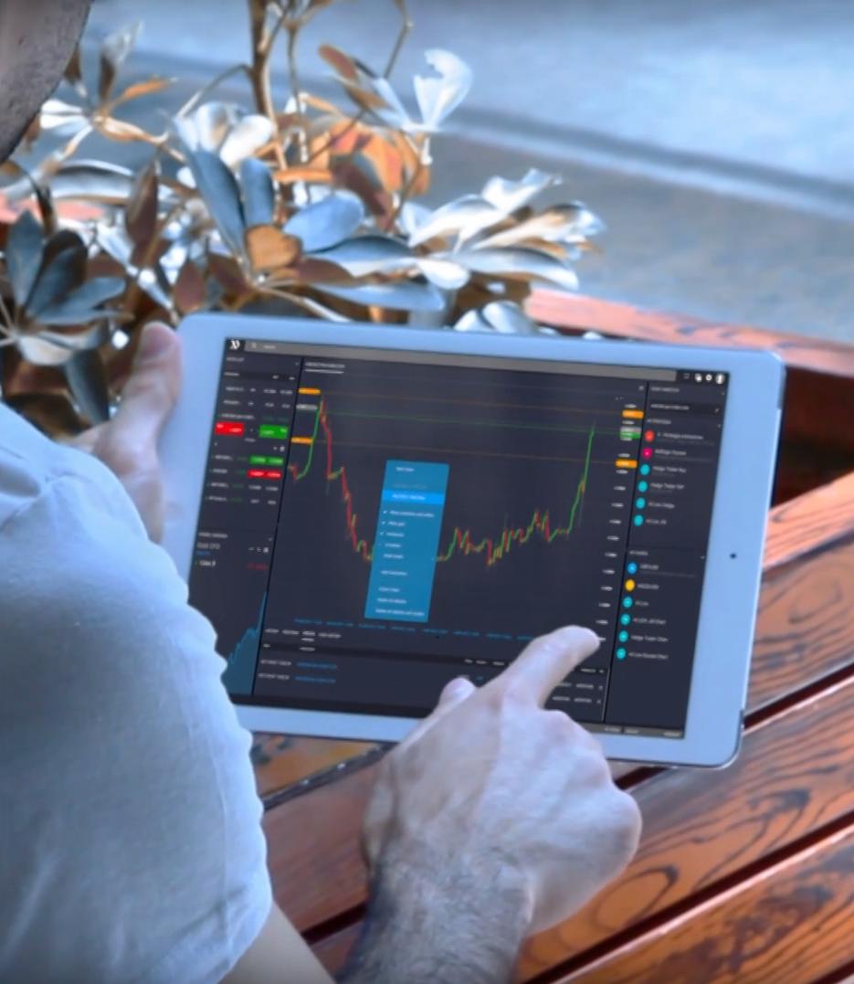 tablet trading platform, platforma transakcyjna, wykresy notowania, chart, quotes, inwestowanie